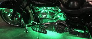Green Accent Lights on an engine.