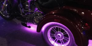 Trike shows off Pink accent lights.