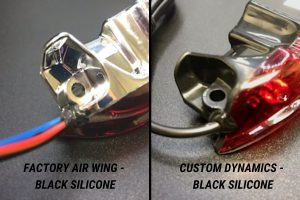 Factory Air Wing Black Silicone and Custom Dynamics Air Wing Silicone Seal