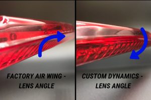 Factory Air Wing Lens Angle and Custom Dynamics Air Wing Lens Angle