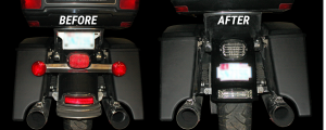 Before and After Turn Signal Eliminator Kit