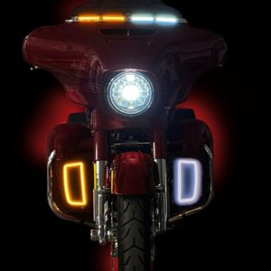 Dynamic Lower Fairing Inserts are a direct replacement for the Harley-Davidson® lower fairing radiator grills or filler plates.