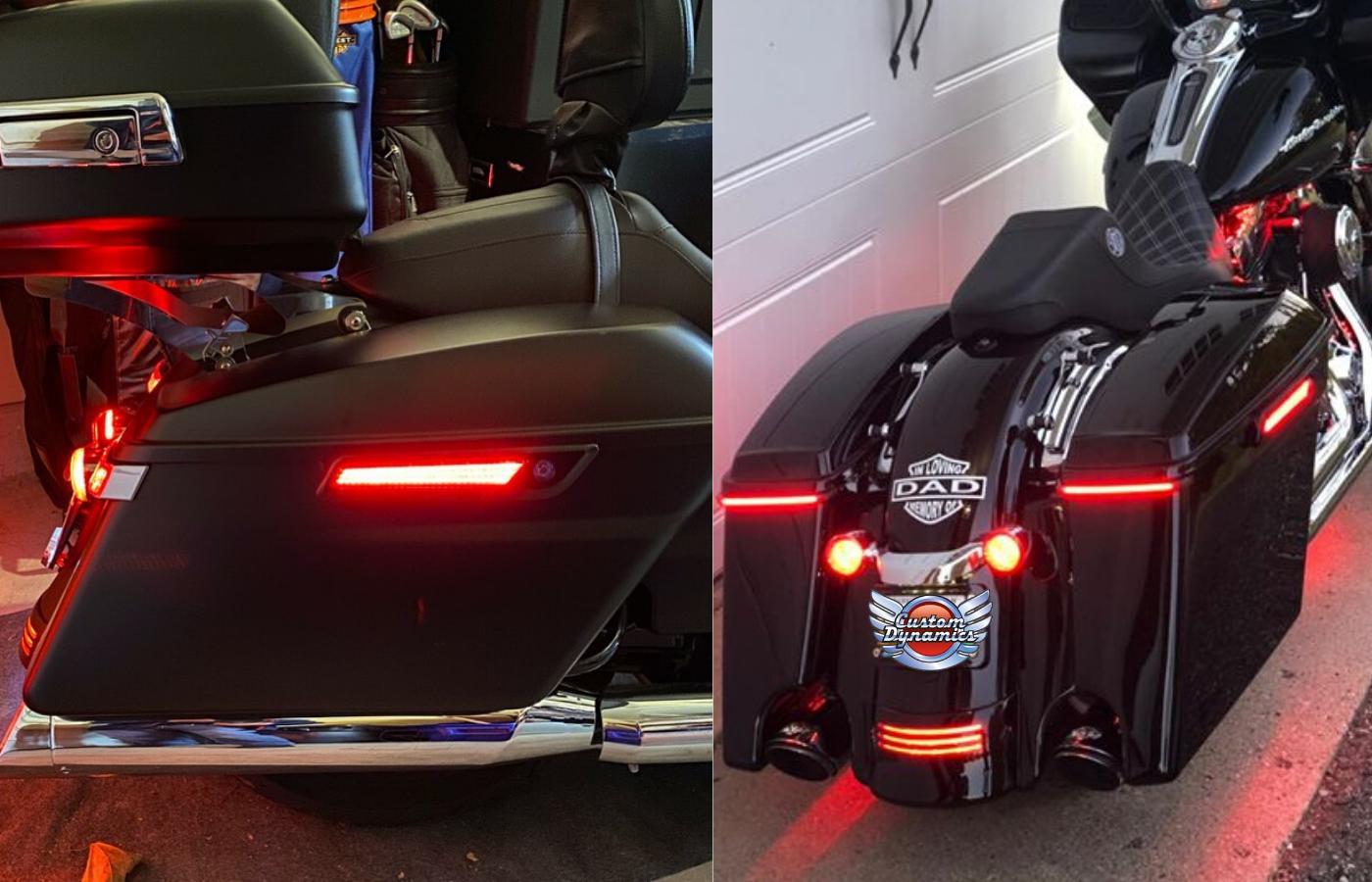 LED Saddle bag Latch Lights for Harley Davidson