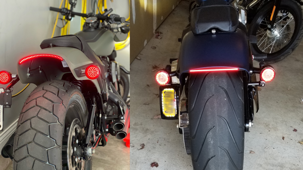 Softail LED Fender Taillights and Brake Lights with Turn Signals